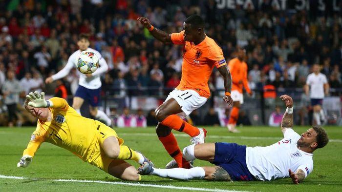 Timnas Belanda mengalahkan Inggris 3-1 di semifinal UEFA Nations League. (Foto: Jan Kruger / Getty Images)