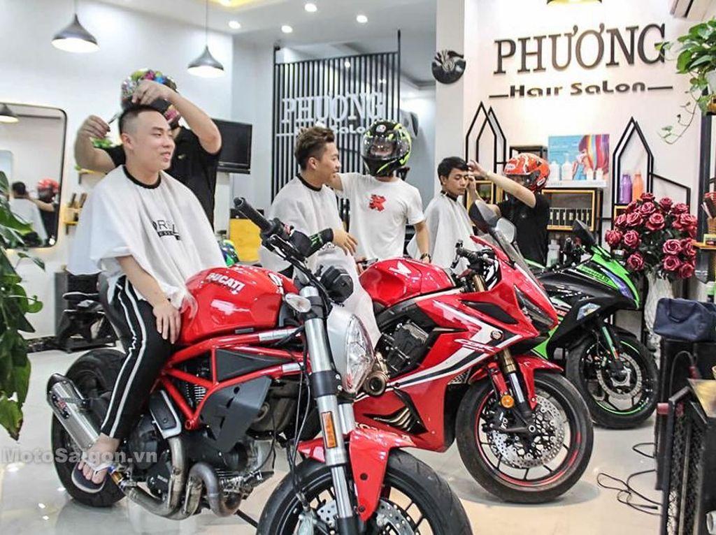 Ducati sampai Kawasaki Ninja Jadi Tempat Duduk Pangkas Rambut