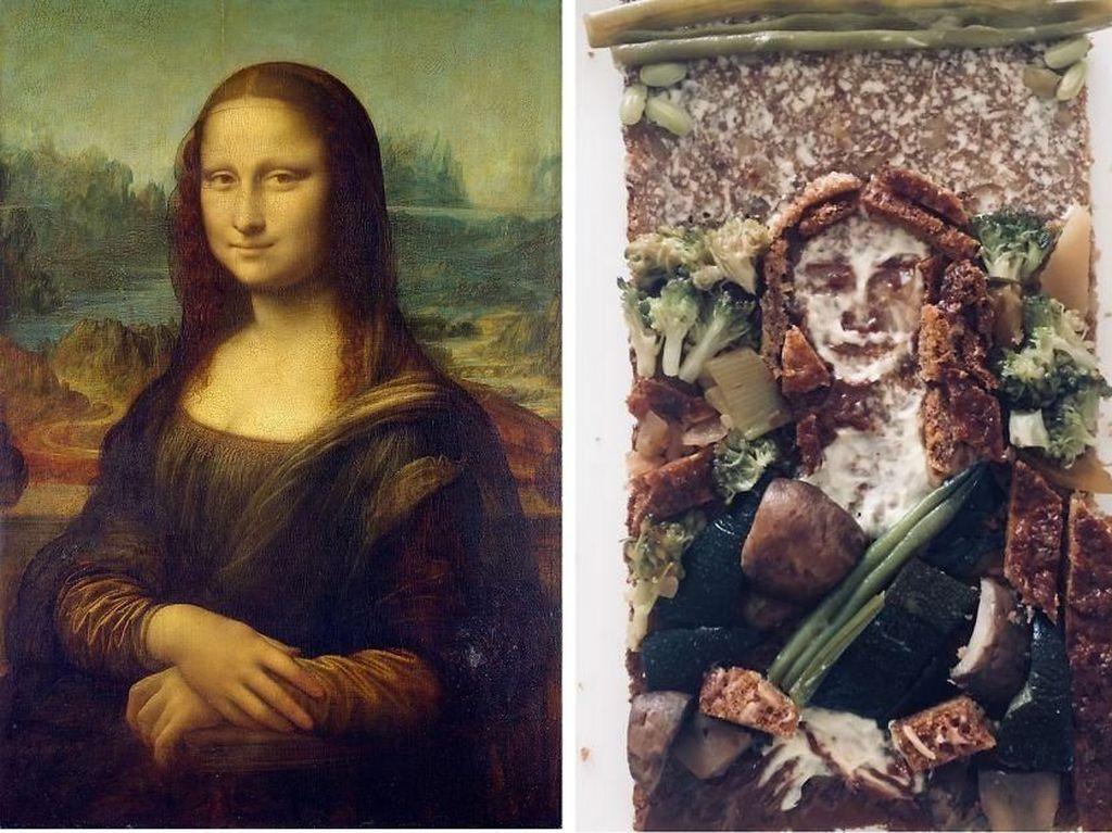 Pakai Roti dan Makanan, Karya Seni Lukisan Terkenal Ini Jadi Keren