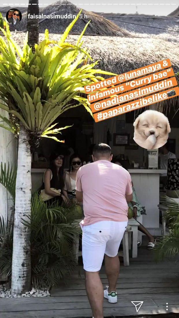 Faisal Nasimuddin di Bali bersama Luna Maya