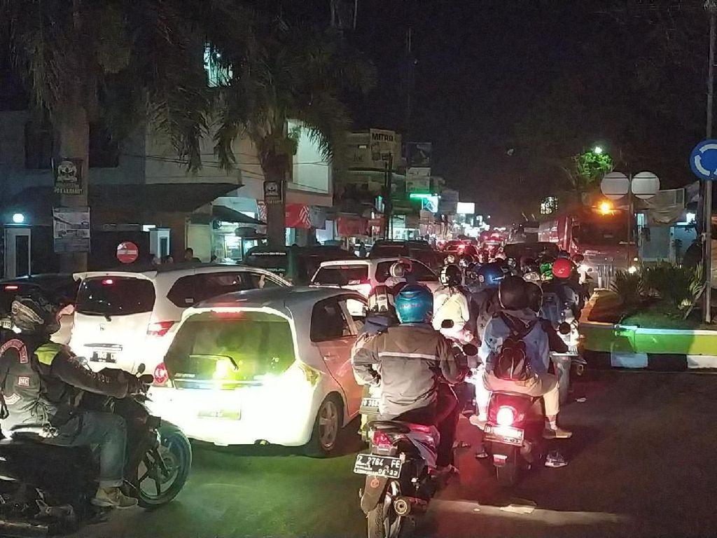 H+3 Lebaran, Lalin di Perkotaan Garut Arah Bandung Macet