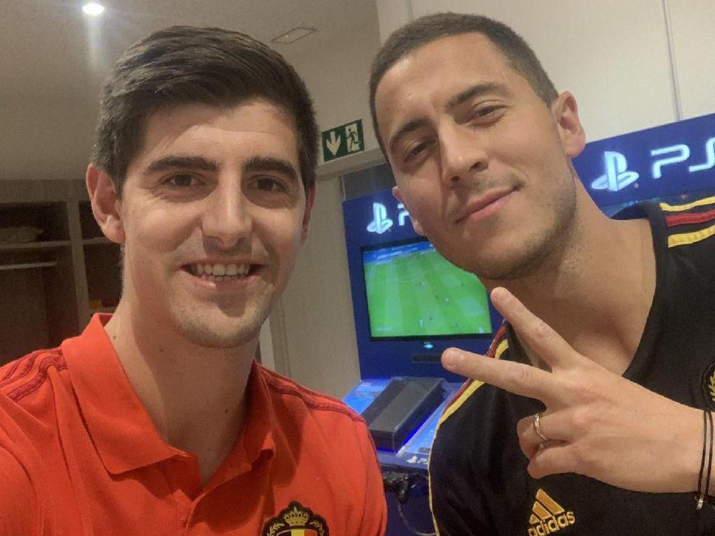 Courtois kepada Hazard: Selamat Datang di Klub Terbaik di Dunia!