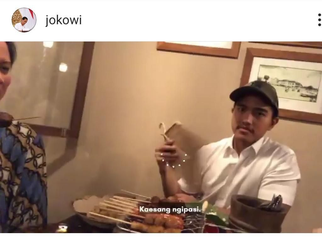 Jokowi Nge-vlog: Iriana, Gibran, Jan Ethes Makan, Kaesang Kipas-kipas Sate