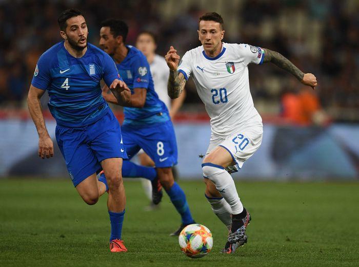 Dalam pertandingan tersebut Italia bermain mendominasi dengan penguasaan bola 64-36 persen.