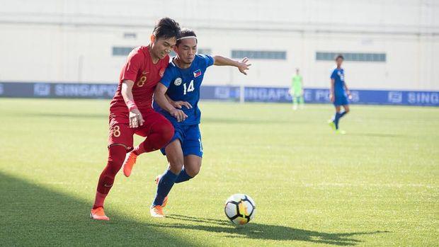 Timnas Indonesia kalahkan Filipina 5-0 di Merlion Cup 2019.