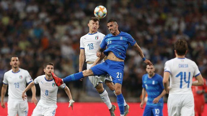 Italia menang 3-0 atas Yunani di Kualifikasi Piala Eropa 2020 (Costas Baltas/REUTERS)