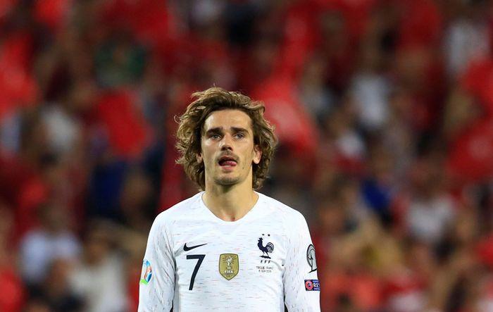 Timnas Prancis harus mengakui keunggulan Turki saat bertemu dalam Kualifikasi Piala Eropa 2020 yang berlangsung di Torku Arena, Turki, Minggu (9/6/2019) dinihari WIB. Umit Bektas/Reuters.