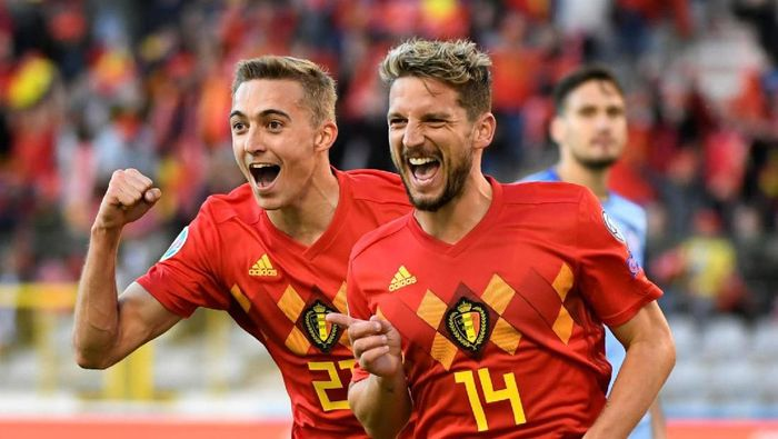 45Belgia menang 3-0 atas Kazakhstan di Kualifikasi Piala Eropa 2020 (REUTERS/Piroschka Van De Wouw)