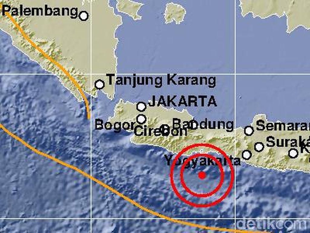 Gempa M 5,5 Cilacap Tak Berdampak di Pangandaran