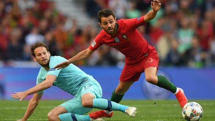 Bernardo Silva menutup musim 2018/2019 dengan sempurna. (PATRICIA DE MELO MOREIRA / AFP)