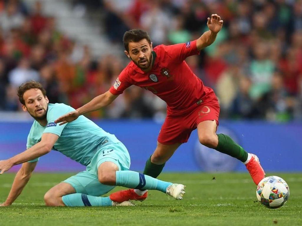 Angkat Trofi Bersama City dan Portugal, Musim Sempurna untuk Bernardo Silva
