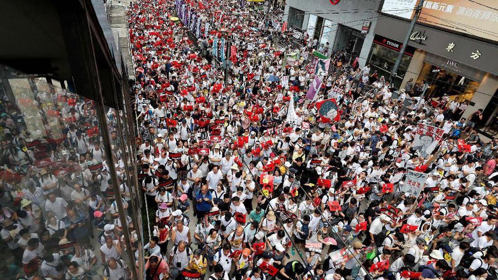 Penampakan Demo Menolak Hukum Ekstradisi di Hong Kong