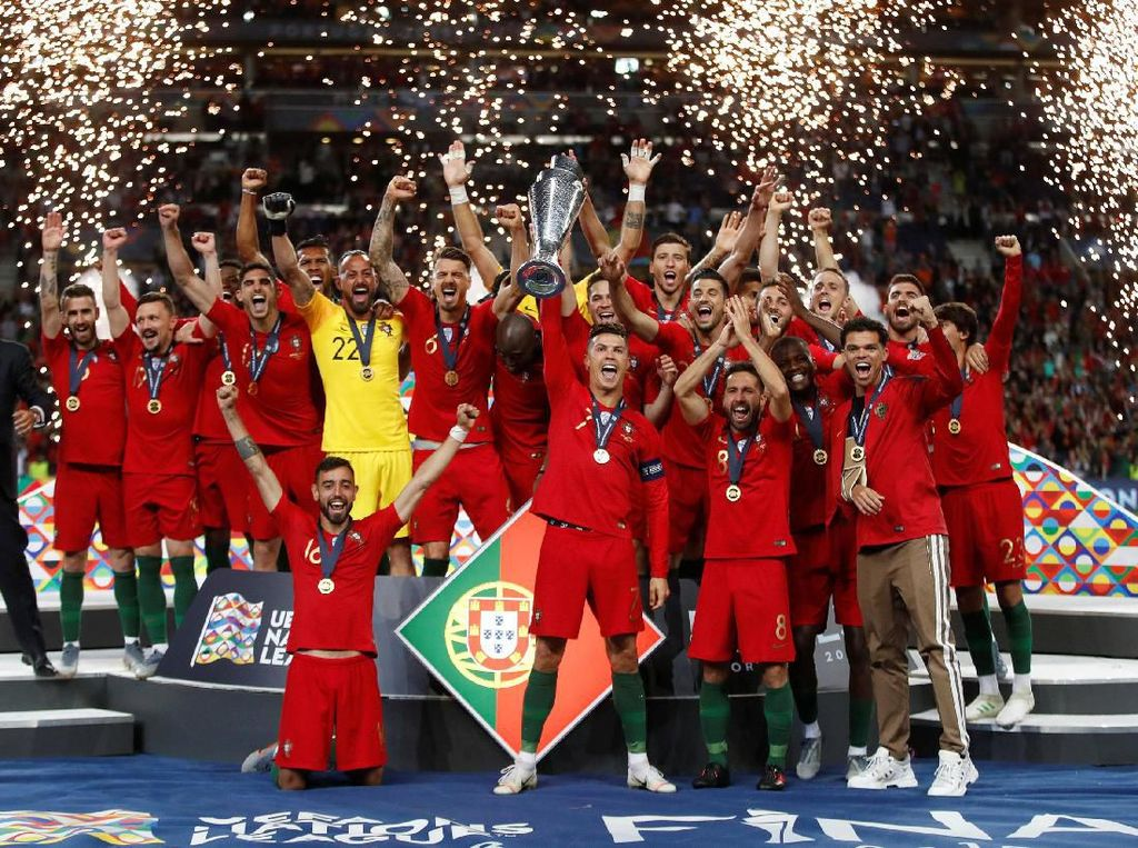 Ronaldo Pimpin Pesta Juara Portugal di UEFA Nations League