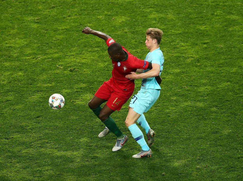 Portugal Jadi Juara karena Mampu Batasi Gerak De Jong