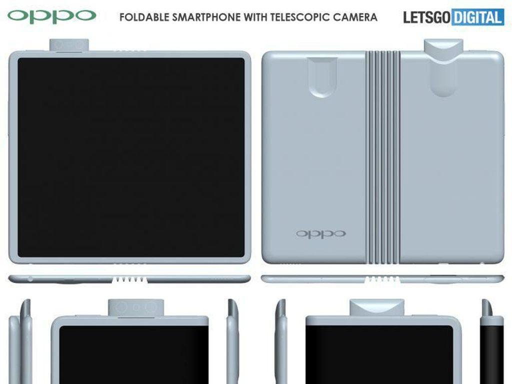 Penampakan Kamera Pop-up di Ponsel Layar Lipat Oppo