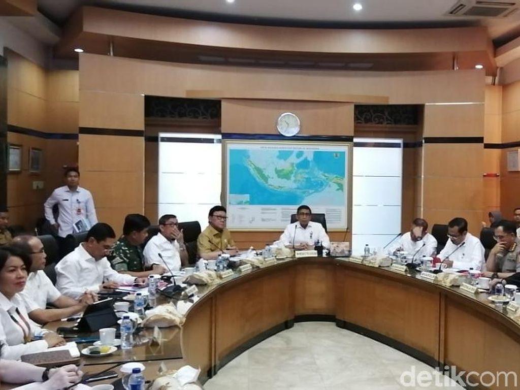 Wiranto Pimpin Rakor Bahas Situasi Nasional, Kapolri dan Panglima Hadir