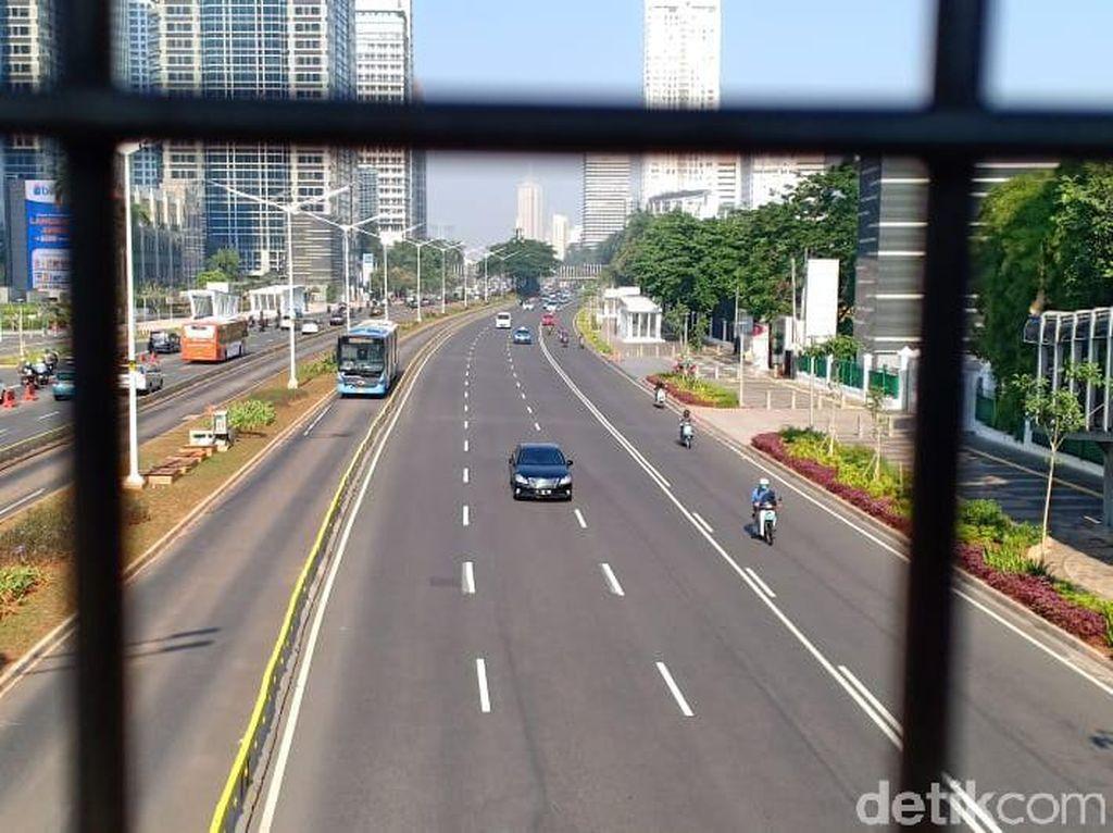 Lalin di Jl Gatot Subroto-Sudirman Lancar Usai Libur Lebaran