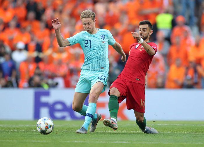 Dalam laga final yang dilangsungkan Senin (10/6/2019) dinihari WIB, Portugal menang 1-0 atas Belanda. (Reuters/Carl Recine)