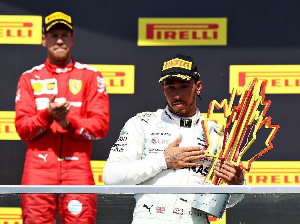 Klasemen F1 Usai Kemenangan Kontroversial Hamilton di GP Kanada