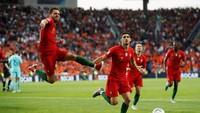 Goncalo Guedes menjadi pencetak gol tunggal dalam laga final ini. Dia menjebol gawang Belanda di menit 60. (Reuters/Carl Recine)