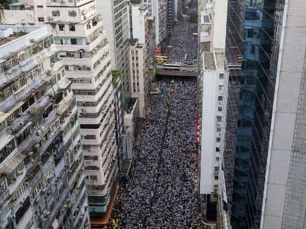 Protes Hukum Ekstradisi, Warga Hong Kong Gelar Demo Besar-besaran