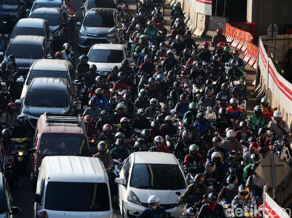 Jakarta Kembali Macet Usai Libur Lebaran