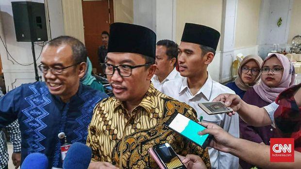 Imam Nahrawi berharap Timnas Indonesia bisa mengalahkan Yordania pada laga uji coba. (