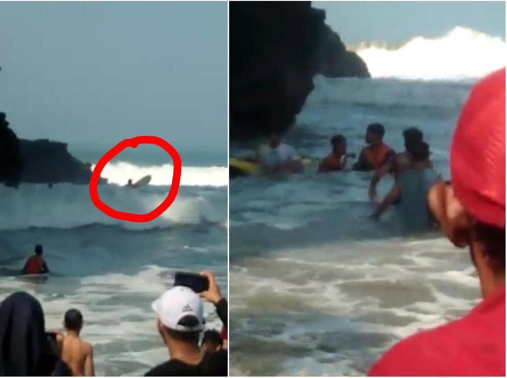 Selamatkan Wisatawan, Penjaga Pantai Nyaris Tewas Tersangkut Karang