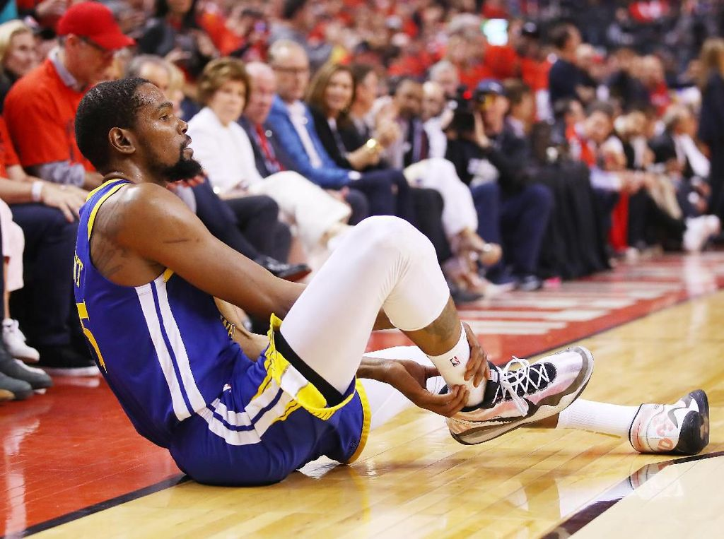 Cuma Comeback 12 Menit, Durant Mesti Menepi Lagi karena Cedera Achilles
