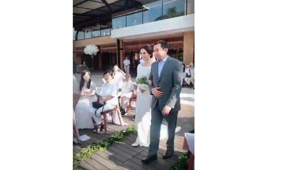 Pernikahan Gwen Priscilla dan Dedey eks suami Diana Pungky