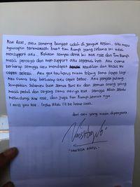 Surat Vannesa Angel