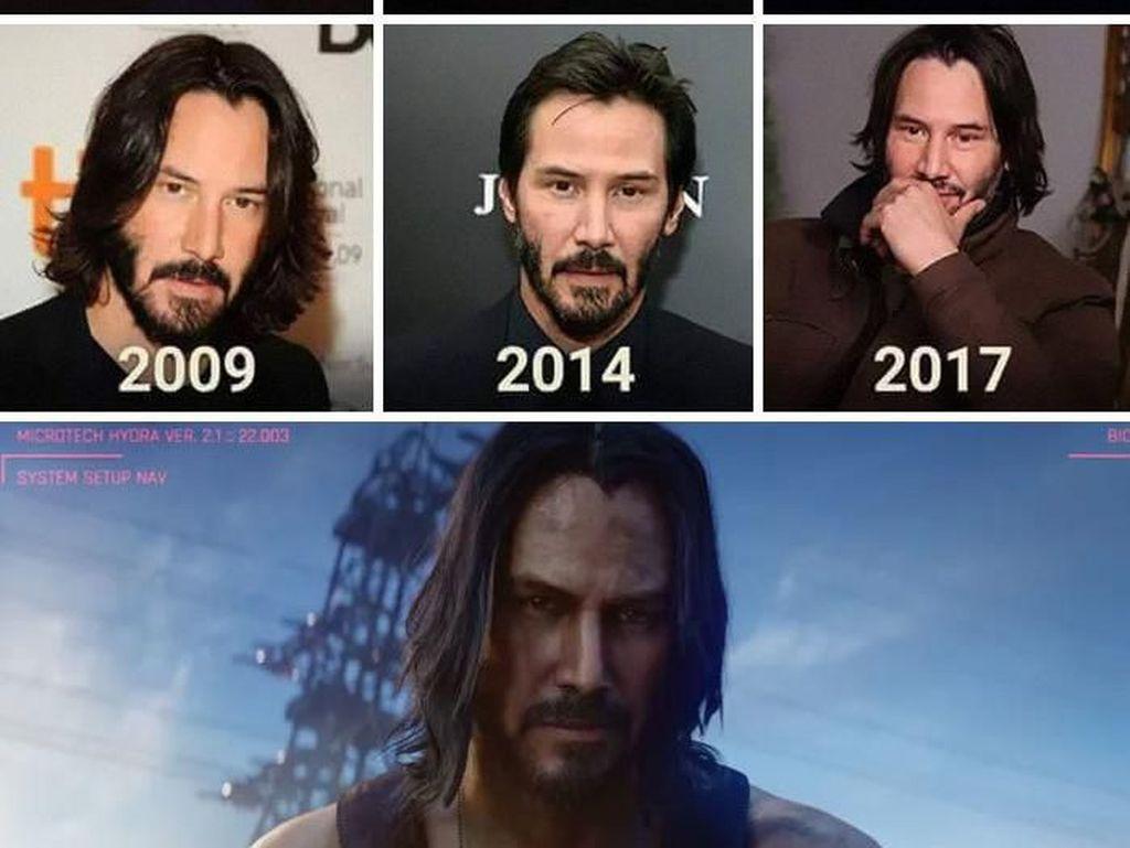 Ragam Meme Keanu Reeves Gahar di Game/Film, Aslinya Memesona