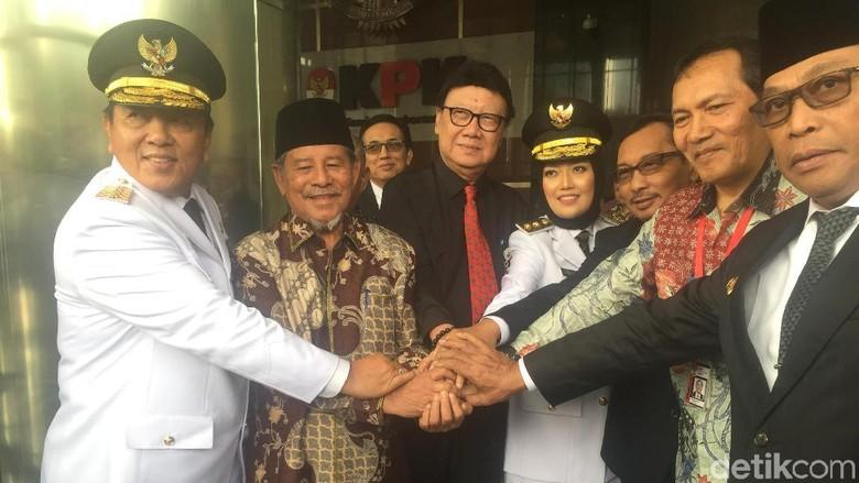 Temui KPK 3 Gubernur Wagub Baru Siap Jadi Agen Pemberantasan Korupsi