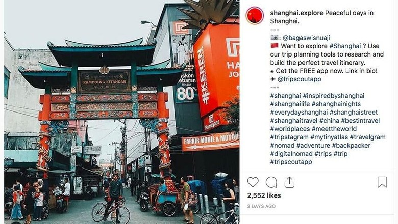 Kampung Ketandan Yogyakarta dikira Shanghai (shanghai.explore/Instagram)