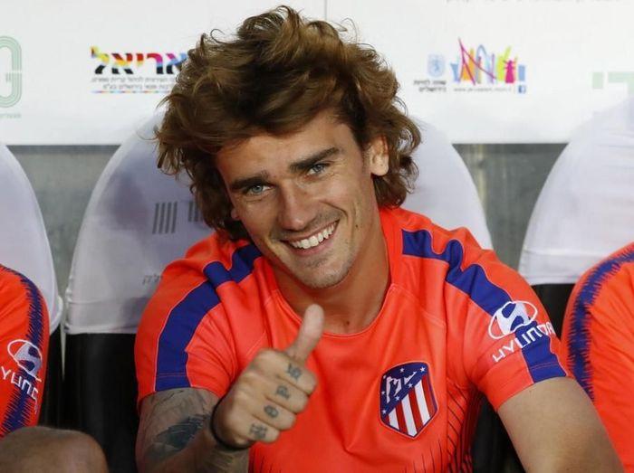 Pemain baru Barcelona, Antoine Griezmann. (Foto: Jack Guez/AFP)