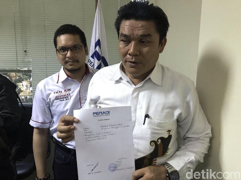 BW Kembali Dilaporkan, Kali Ini ke Peradi Pimpinan Luhut Pangaribuan