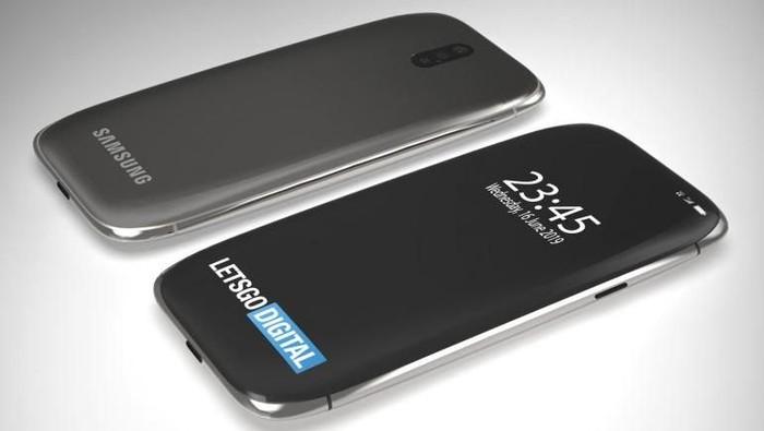 Reka wujud ponsel Samsung dalam bentuk render. (Foto: Dok. LetsGoDigital)