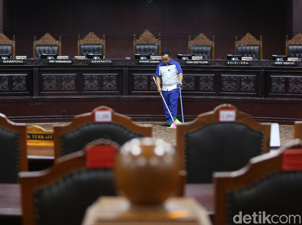 Intip Ruang Sidang MK Jelang Sidang Perdana Sengketa Pilpres 2019