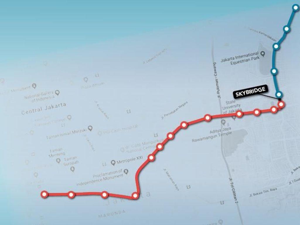 Ini Daftar Rute Jak Lingko yang Nyambung Dengan LRT Jakarta