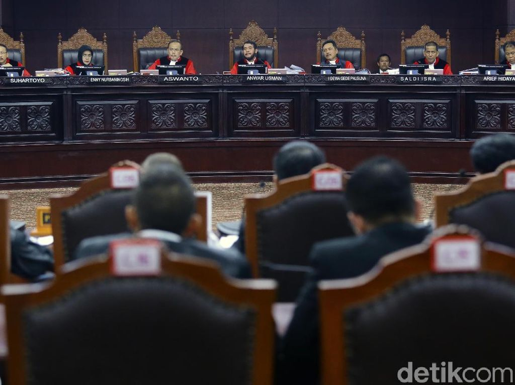 Sidang Sengketa Pilpres Terbuka Usai, Hakim MK Segera Rapat Tertutup