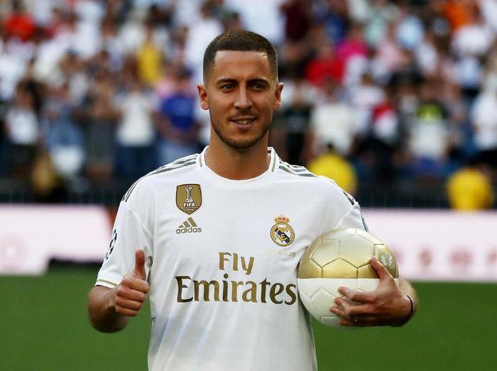 Pemain Real Madrid, Eden Hazard. (Foto: Sergio Perez/REUTERS)