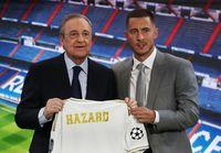 Saat Eden Hazard diperkenalkan sebagai pemain Real Madrid