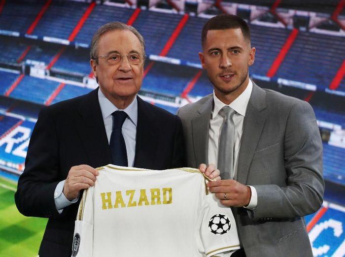 Eden Hazard kabarnya sudah meminta nomor punggung 23 ke Real Madrid (Sergio Perez/REUTERS)