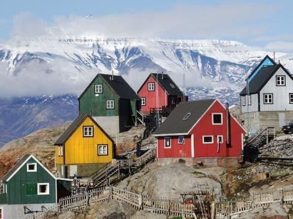 Foto: Rumah Warna-warni Penuh Kode Rahasia di Greenland