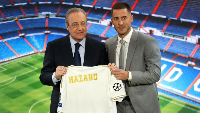 Eden Hazard belum menentukan nomor punggungnya di Real Madrid (Angel Martinez/Getty Images)