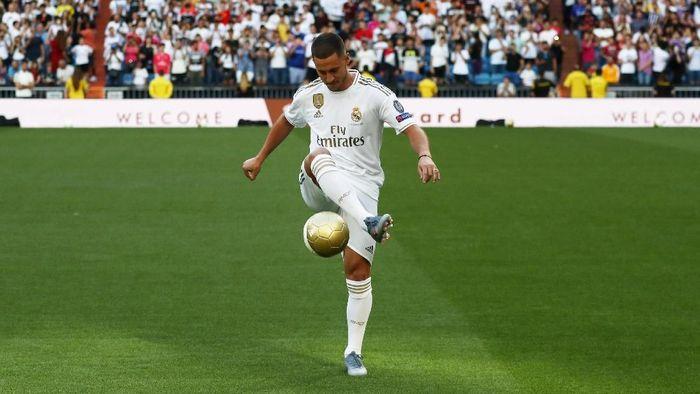 Pemain baru Real Madrid, Eden Hazard. (Foto: Sergio Perez/REUTERS)