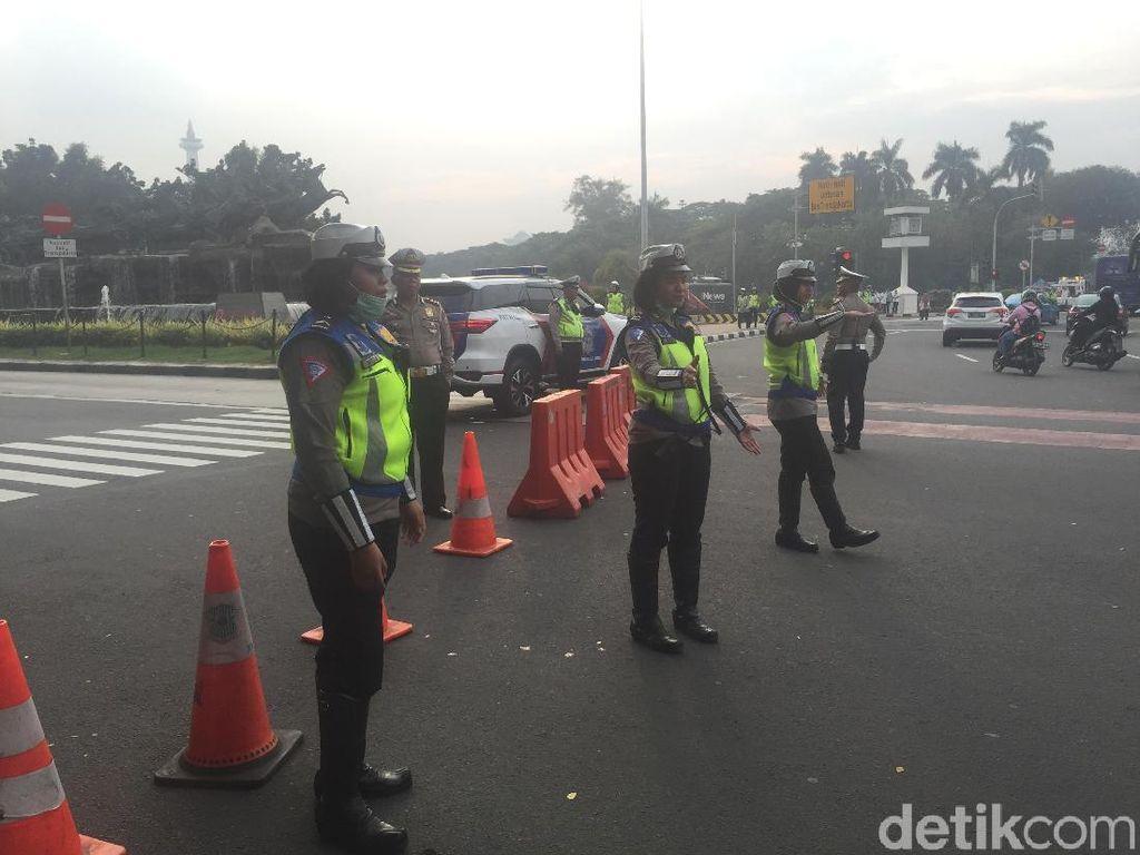 Jelang Sidang Gugatan Pilpres di MK, Jl Medan Merdeka Barat Ditutup