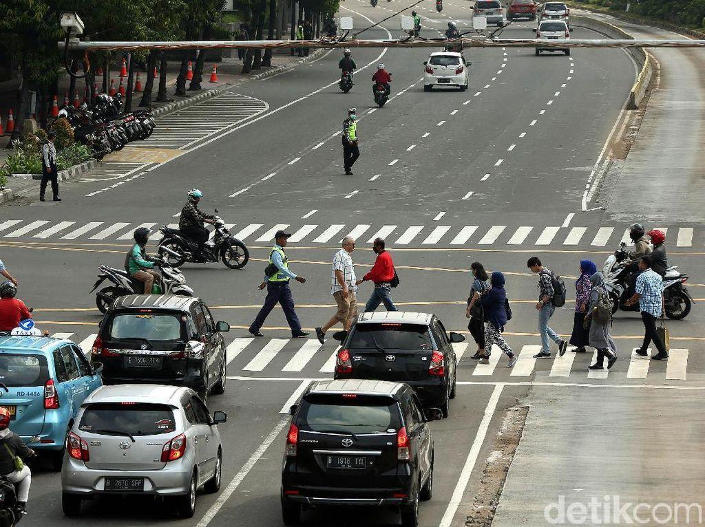 Aktivitas di Thamrin Tetap Normal Meski Ada Sidang Sengketa Pilpres