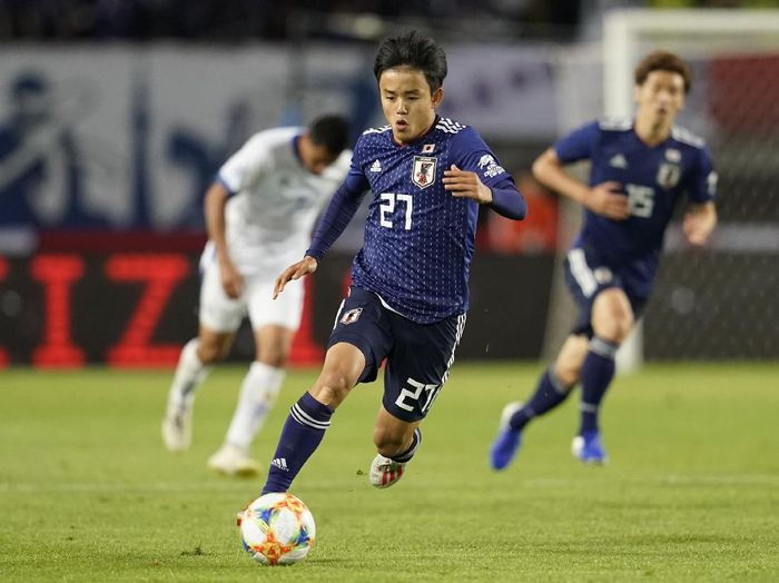 Pemain Jepang, Takefusa Kubo, yang dibandingkan dengan Lionel Messi. (Foto: Toru Hanai/Getty Images)