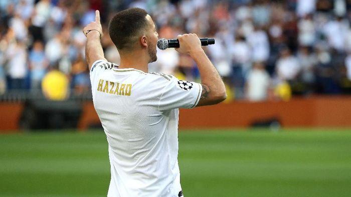 Eden Hazard masih belum punya nomor punggung di Real Madrid (Foto: Angel Martinez/Getty Images)